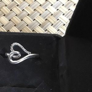 Jewelry - Sterling Silver Open Heart Ring Size 7